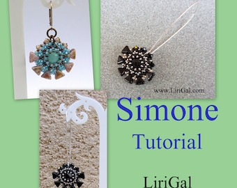 Tutorial Simone Beaded Earrings with Kheops par Puca beads PDF