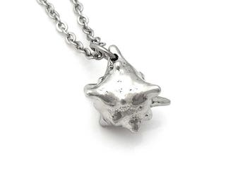 Macrophage Necklace, White Blood Cell Charm, Biology Jewelry