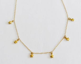 Gold Star Choker, Star Necklace, Celestial, Dainty Choker, Gold Choker, Dainty Necklace, Minimalist
