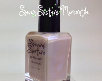 Maia - Seven Sisters Nail Lacquer - 15 mL 0.5 Fl Oz. - Pleiades Collection - Pink/Beige with Blue Duochrome Nail Polish