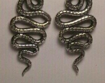 snake earrings, serpent earrings