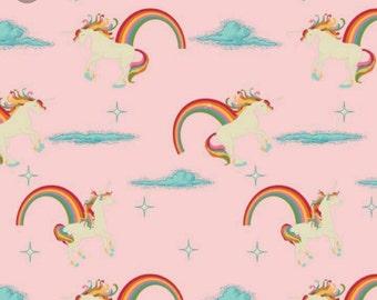 Riley Blake Unicorns and rainbows FAT QUARTER