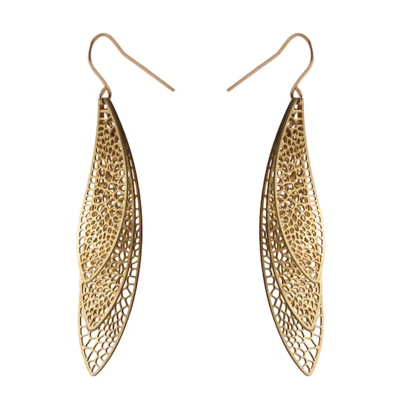 Wing Form Earrings by Nervous System