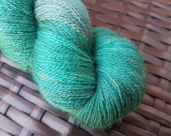 Tempest: 100g Blue Faced Leicester hand-dyed heavy laceweight yarn.