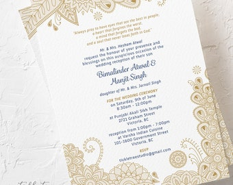 Floral Henna - Wedding Invitations (Style 13793)