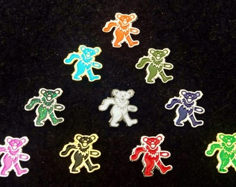 Grateful Dead Dancing Bear mini Pins 3 for 20 Deal