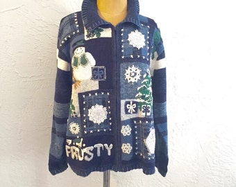 Frosty The Snowman Ugly Christmas Cardigan