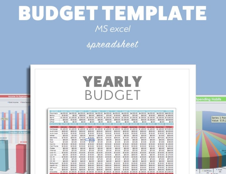ms excel budget