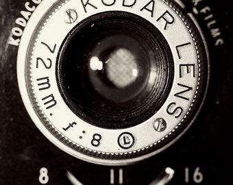 "Vintage Kodak Camera - 8x12 photograph - ""Classic"" - fine art print - vintage photography - Black and White - Camera photograph"