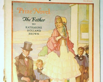 antique Women Magazine flapper Carl Sandburg illustration poem roaring twenties complete