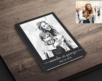 Custom Portrait Wedding Guest book. Wedding Guestbook. Custom Wedding Guest book. Wedding Notebook. Bridal Shower Book. Wedding Memory Book
