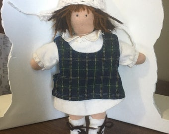 One of a kind Waldorf style handmade cloth doll
