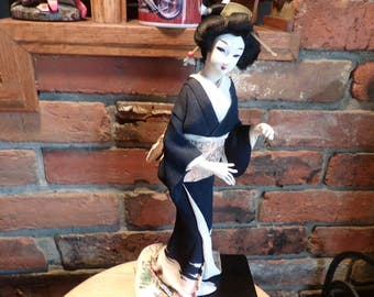 Beautiful Vintage Japanese Geisha Doll, Nisha Doll, 14 inch Japanese doll, 1940's Geisha doll, 1940's prop, Nisha doll