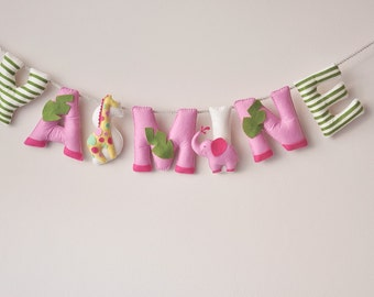 Felt name banner, nursery decor, personalized gift, baby felt letters, child room baby name garland, custom felt name, MADE TO ORDER