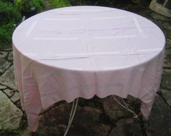 Pale Pink rectangle tablecloth, 72 inch, pink damask formal tablecloth, oblong tablecloth, shabby cottage chic decor, 1039