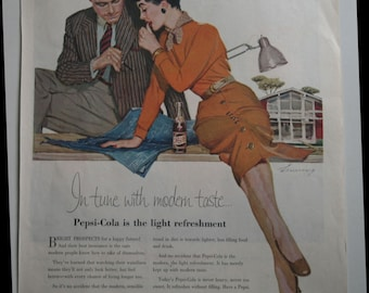 October 1955 Pepsi ad from Ladies Home Journal architect