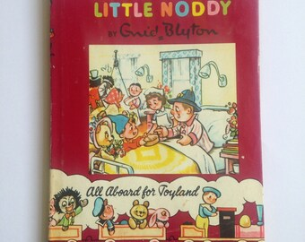 Vintage Mr Plod and Little Noddy Children's Book with Dust Cover by Enid Blyton