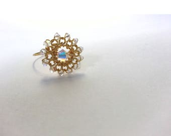 Aurora Gold Wirewrapped Delicate Ring