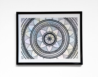 Abstract Original Wall Art, Pen & Ink, 10in x 8in, Item #GD4