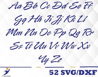 Lightning McQueen Font svg,dxf/Lightning McQueen Font svg ,dxf for Silhouette,Cricut, Print,Design, Art
