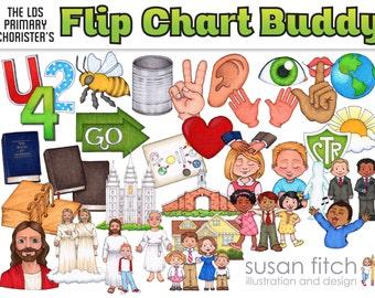 LDS Primary Song Leader Flip Chart Clip Art