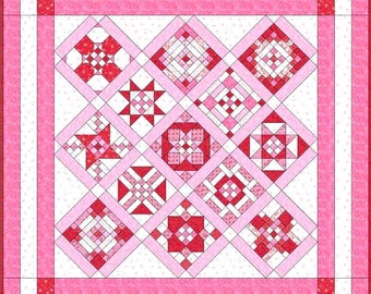 CLOSE to My HEART Sampler Block Patterns - 14 Pieced Sampler Block Patterns - Electronically Delivered