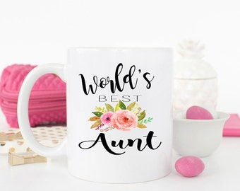 Worlds Best Aunt, Best Aunt Ever, AUNT Mug, Gift for Aunt, Aunt Birthday Gift, Best Aunt, Aunt, Pregnancy, Announcement, AAA_002  - Aunt