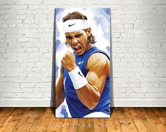 Rafael Nadal Canvas High Quality Giclee Print Wall Decor Art Poster Artwork