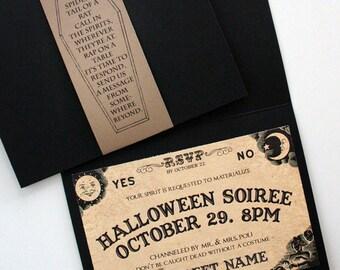 Ouija Inspired Spirit Board Invites (Digital Printable)