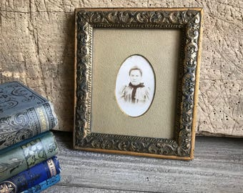 French Gesso Frame, Gold Gilt, Plaster, Antique Photograph, Picture Wall Frame