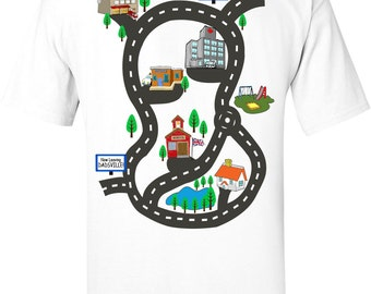 Fathers Day Gift Dads T shirt Play Mat Back Massage, Gift For Dad & Son Plat Shirt Children's Gift Dad Car Shirt