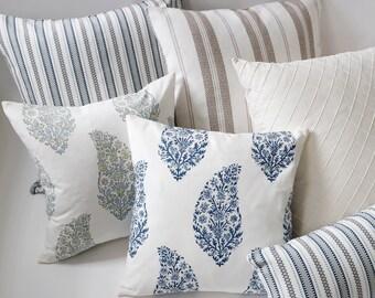 Pondichery Collection // Decorative Throw Pillows 11 Sizes // Decorative Throw Pillow Covers