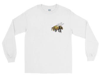 Long Sleeve BEE TEE -Beekeeper-Pollinator-Gardener-Anniversary-Beneficial-Love