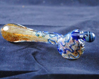 FREE SHIPPING!!  Spoon Pipe, Glass smoking pipe, Octopus Pipe, Frit, Inside-Out, Color Changing Pipe