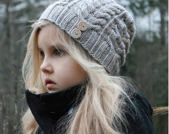 KNITTING PATTERN-The Serenity Hat (Toddler, Child, Adult sizes)