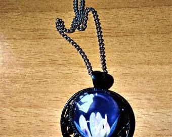 Fairy Pendant/ Glass Cabochon
