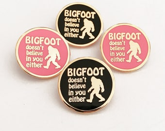 Bigfoot Enamel Pin - Your color choice