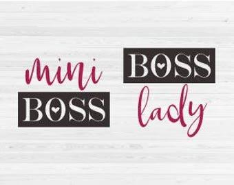 Boss Lady, Mini Boss - SVG Cut File