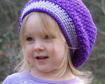 Slouchy Beret Hat Crochet Pattern 3 sizes included PDF 034