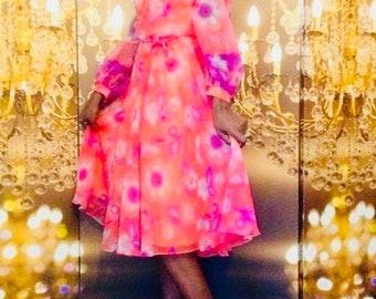 Upcycled! Beautiful Chiffon Spring Dress