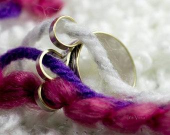 Original 3 loop knitting ring, crochet ring, knitting, yarn guide ring, 3 loop ring, ring, custom ring, repurposed silver ring, crochet tool