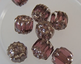 Lovely Light Amethyst and Silver Faceted Cathedral Czech 6mm Beads