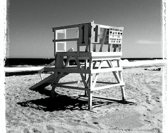 Shore - Lifeguard Chair Coaster (Black and White)