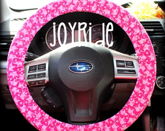 Steering Wheel Cover Pink Elephant Lover With Matching Keychain Option Christmas Present For Girls Car Accessories