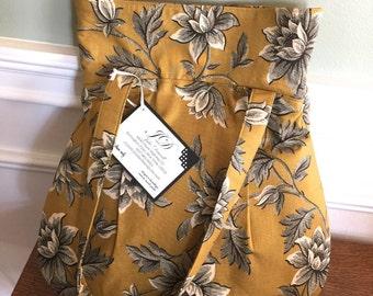 Everyday Tote - Handbag - Reproduction Gold Floral Print - Designer Fabrics - Made to order - Handbag - Handmade