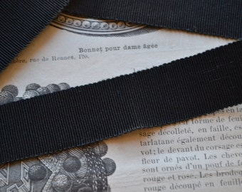 Antique french silk ribbon for hat, 1900s, 2 colors, U choose