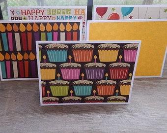 Birthday Card Set, Birthday Note Cards, Birthday Stationary, Birthday Cards, Handmade Birthday Cards, Set of 12