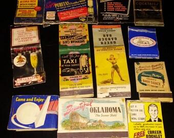 Vintage Matchbook Cover Lot of 10