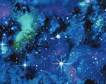 Timeless Treasures - Space - Space-C4847 - Galaxy - Blue - Multi - Outer Space - Space - One More Yard