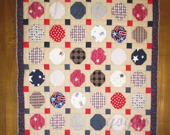 RED WHITE BLUE,  Americana,  Wall Art,  Patchwork,  Quilt,  Home Decor,  Hostess Gift,  July Fourth, Celebration, Patriotic,  Party,  Summer